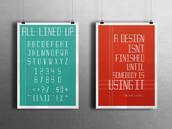All Lined Up Typeface
